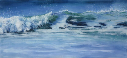 Morning Sea fused glass by Jane Reeves