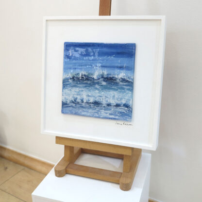 Reflections fused glass painting by Jane Reeves