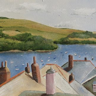 Salcombe Rooftops card by Jane Reeves