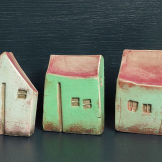 Three Small White Green Houses by Vesna Gusman