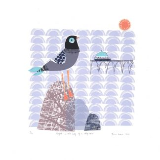 Seagull on Chip Riad by Jane Ormes
