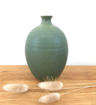 Olive Green Vase by Lucy Burley