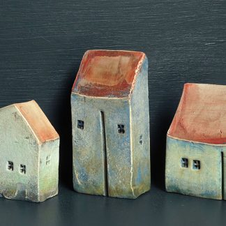 Three Pale Blue Houses by Vesna