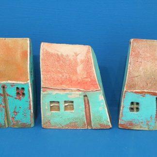 Small Jade Green Houses by Vesna Gusman