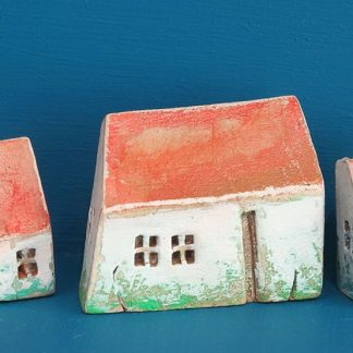 Three Tiny White Houses by Vesna Gusman