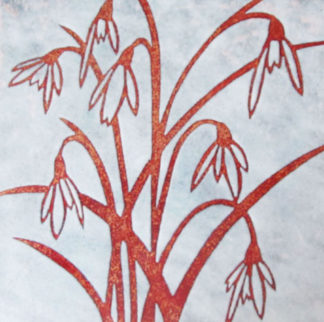 Snowdrops enamel by Janine Partington
