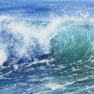 Sound of the Surf fused glass by Jane Reeves