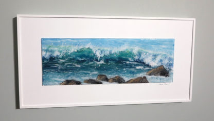 Off the Island fused glass by Jane Reeves