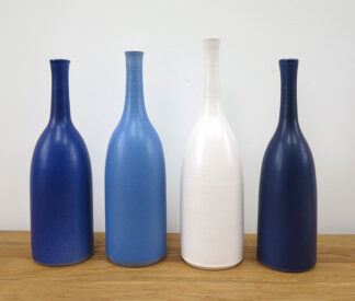 Blue and White Bottles by Lucy Burley