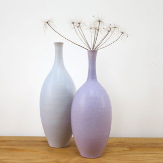 Pale Lilac and Pale Slate Bottles by Lucy Burley