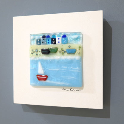 Summer Sailing fused glass by Jane Reeves