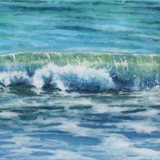 From the Shore fused glass painting by Jane Reeves