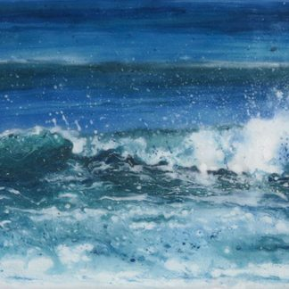 Summer Tide fused glass painting by Jane Reeves