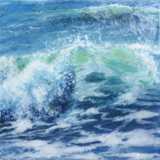 Incoming, fused glass painting by Jane Reeves