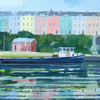 Redcliffe Parade Bristol card by Claire Henley