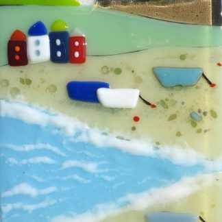 Last Day of Summer fused glass by Jane Reeves