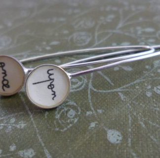 Once Upon earrings by Clare Collinson