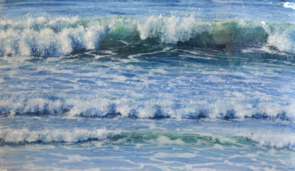 Early Morning fused glass painting by Jane Reeves
