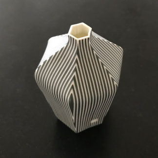 Small Striped Porcelain Vase by Justine Allison