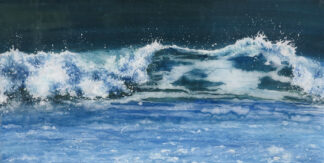 Great Wave fused glass by Jane Reeves