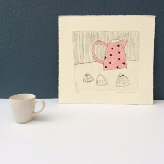 Spotty Jug and Shells by Sophie Harding