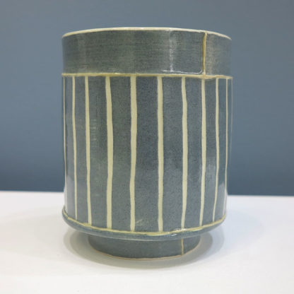 Small Vessel with Navy Stripes
