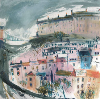 Sunlit Clifton and Storm Clouds by Jane Askey