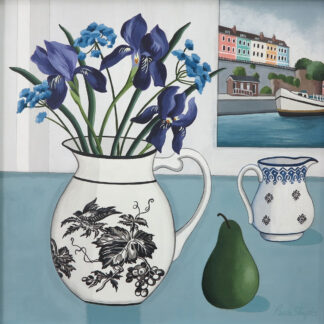 Harbourside View with Iris by Paula Sharples